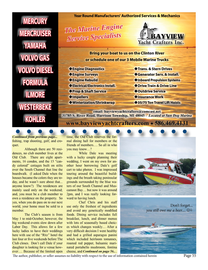 Page 55 2015 Lake St Clair Guide