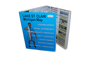 Lake St. Clair Fishing Map